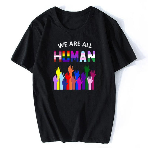 We Are All Human LGBT Rainbow T-Shirt - vibes.berlin