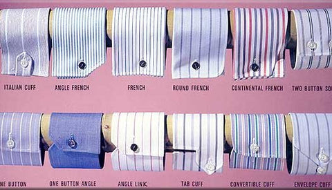 Shirt Cuffs are important details and set you apart from the standard off-the rack choices. Custom Shirts available in over 600 styles and colors.