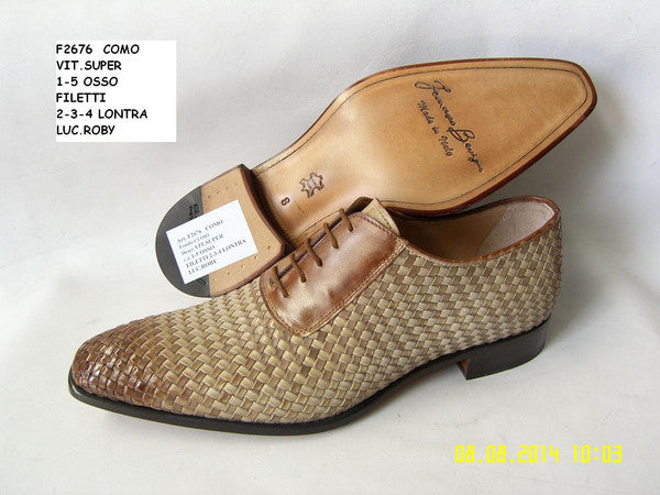 Woody Wilson Shoes Como Woven Leather