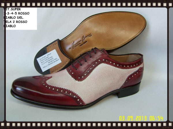 Woody Wilson Shoes/ Wine Wingtip