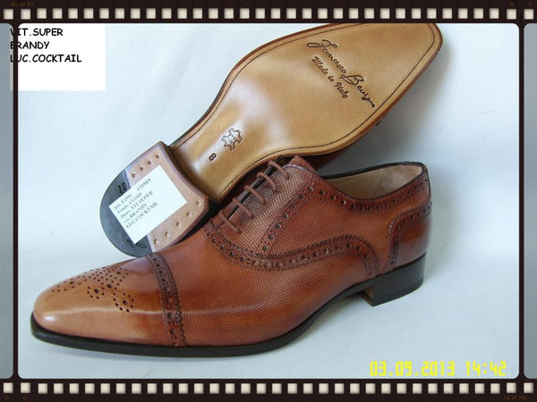 Woody Wilson Shoes/Como- Brandy Wingtip Laceup