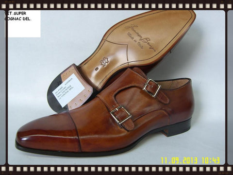 Woody Wilson Shoes Cognac London Monk Strap