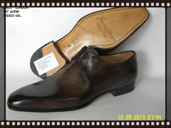 Woody Wilson Shoes Chocolate Italian Lace-Up