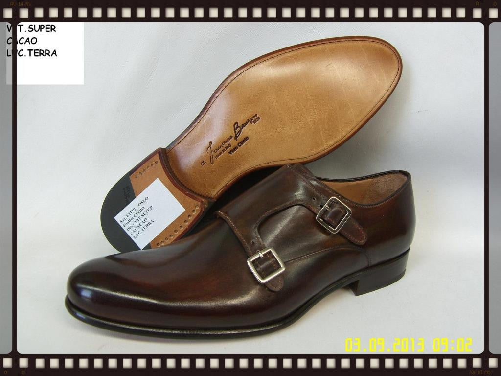 Woody Wilson Shoes/ Italian Leather Double Monk Strap