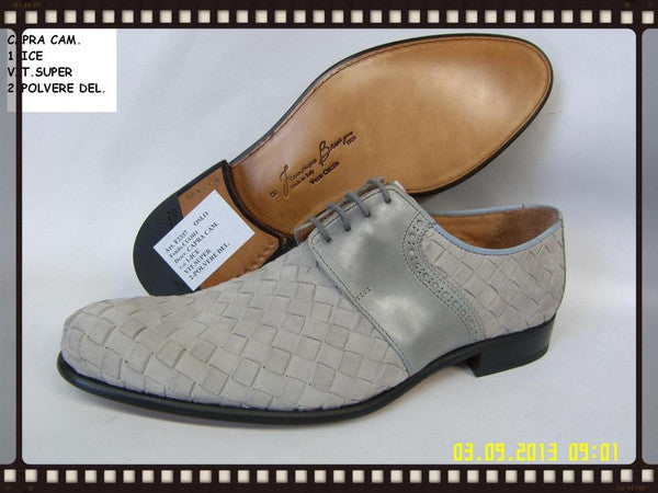 Woody Wilson Shoes/ Grey Suede Laceup