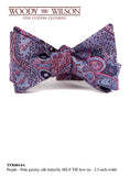 Purple-Pink Paisley Silk Butterfly