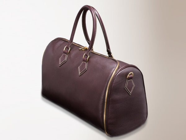 ROLLING BELLAGIO ITAIAN LEATHER GARMENT HANGING BAG/ SUIT CASE