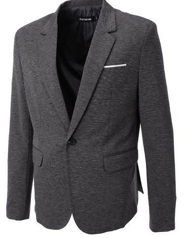 FLATSEVEN Mens Slim Fit Casual Premium Blazer Jacket