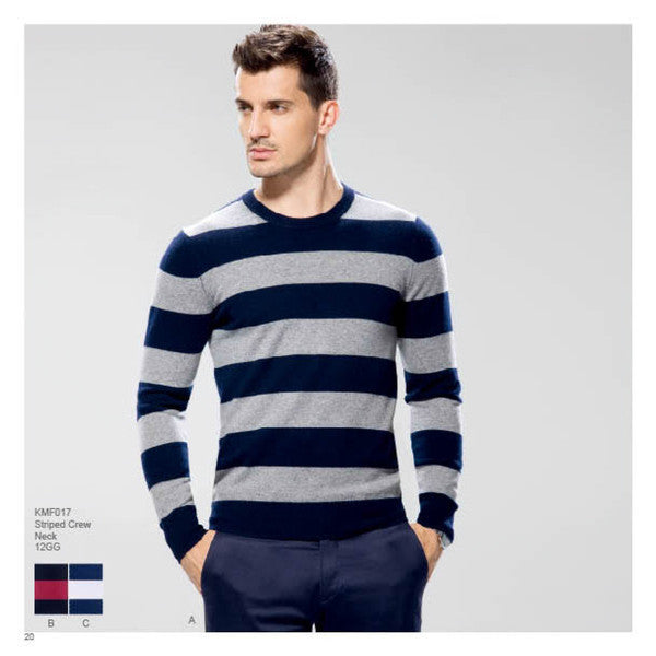 STRIPED CREW NECK 12GG
