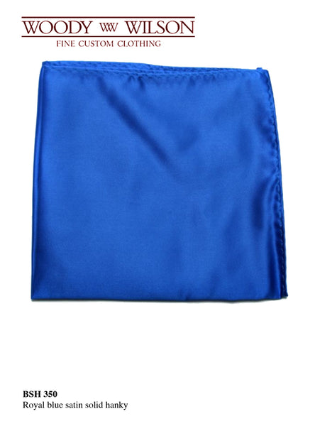 Royal Blue Satin Hanky
