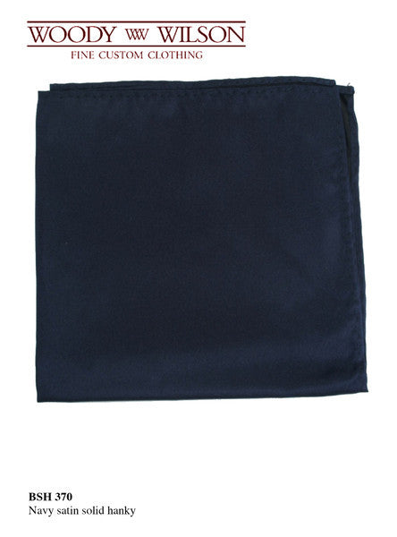 Navy Blue Solid Hanky