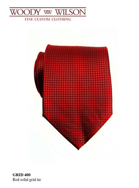 Red Solid Grid Tie