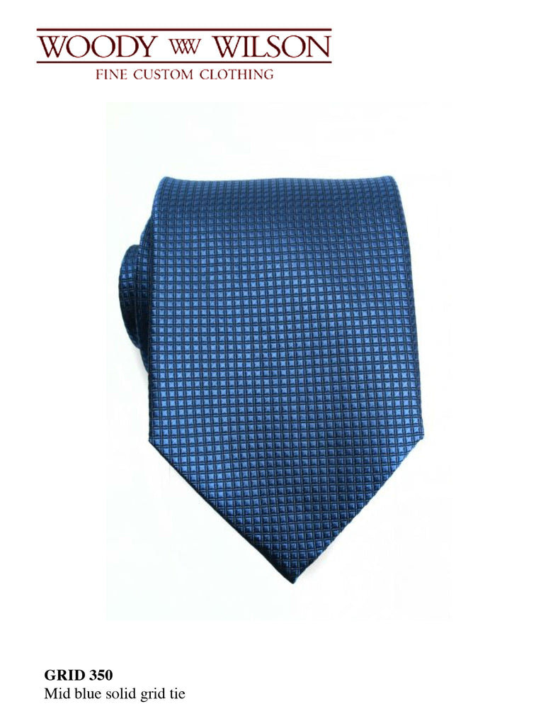 MId Blue Solid Grid Tie