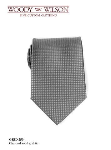 Charcoal Solid Grid Tie