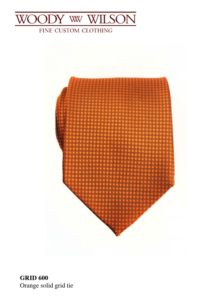 Orange Solid Grid Tie