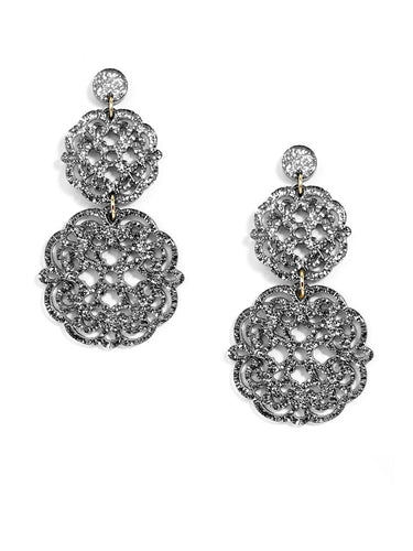 Zenzi Two Tiered Earring - Neutral