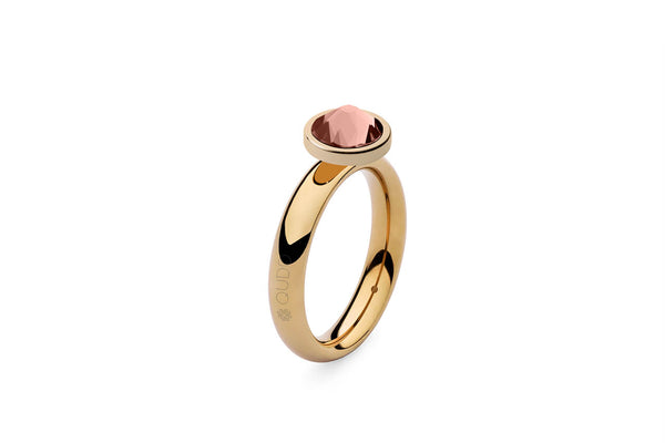 Qudo Gold Sm Ring with Canino Top