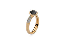 Qudo Gold Deluxe Ring with Canino Top