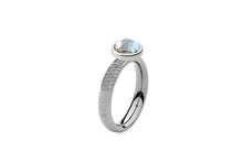 Qudo Stainless Deluxe Ring with Canino Top