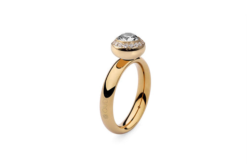 Qudo Gold Sm Ring with Tondo Deluxe Top