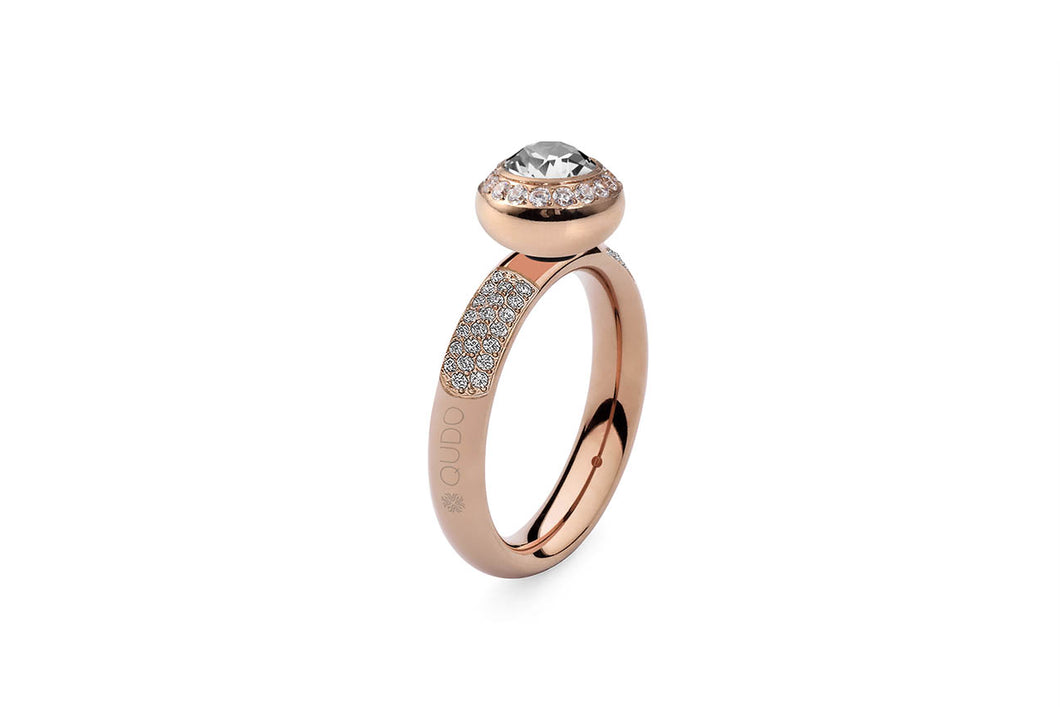 Qudo Rose Gold Deluxe Ring with Tondo Deluxe Top
