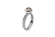 Qudo Stainless Deluxe Ring with Tondo Deluxe Top