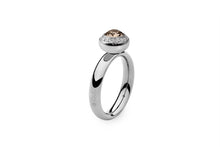 Qudo Stainless Sm Ring with Tondo Deluxe Top