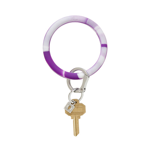Big O Silicone Key Ring: Deep Purple Marble