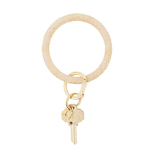 Big O Silicone Key Ring: Gold Confetti