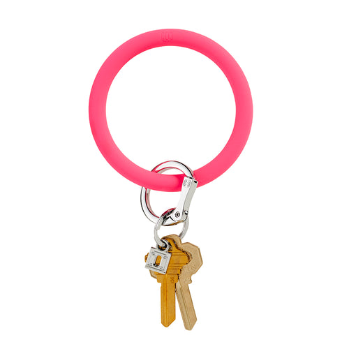 Big O Silicone Key Ring: Tickled Pink