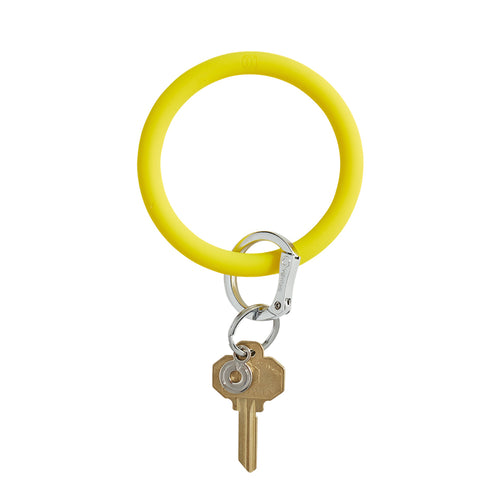 Big O Silicone Key Ring: Yes Yellow