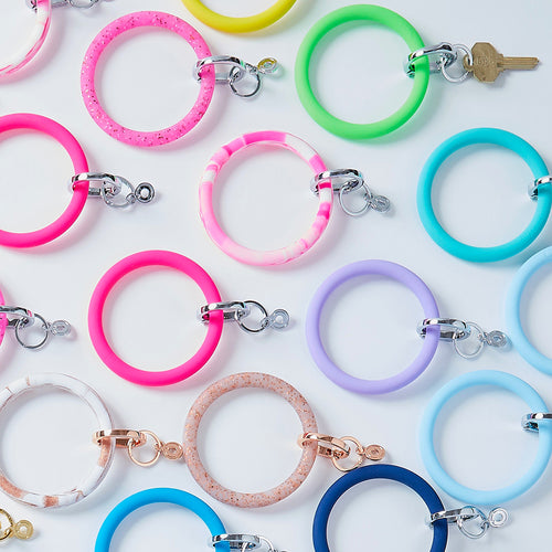 Big O Silicone Key Ring: Cotton Candy