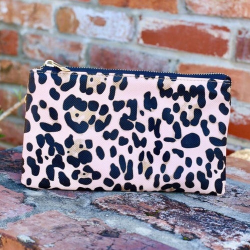 Caroline Hill: Liz Blush Leopard Crossbody