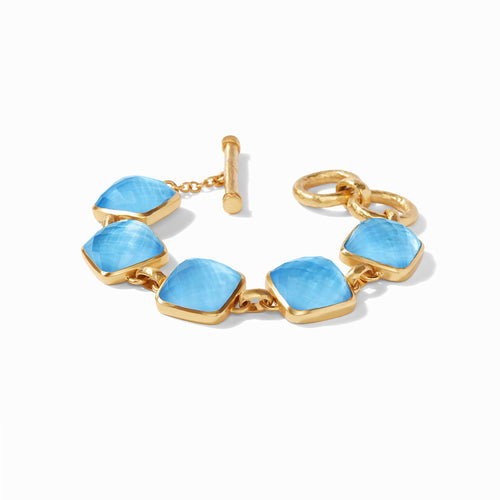 Julie Vos Catalina Stone Bracelet Iridescent Pacific Blue