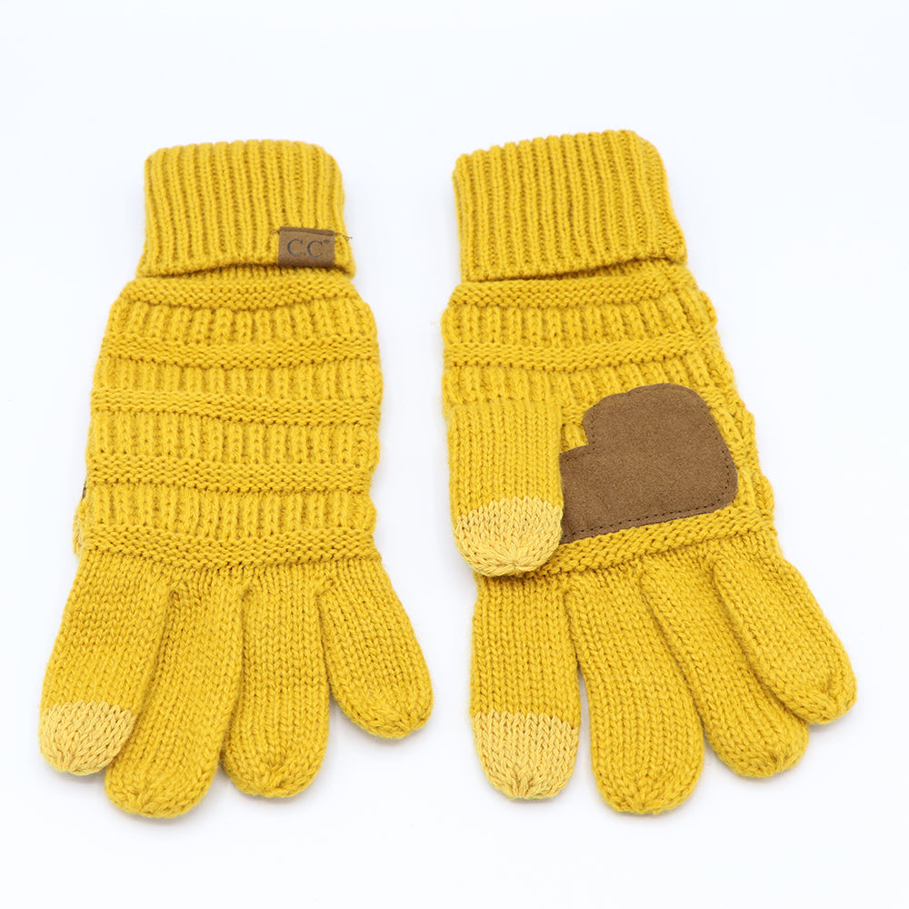 Cheveaux Touch Screen Gloves Mustard