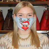 Red Nose Reindeer Adjustable Face Mask