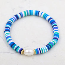 Classy Blues Striped Bracelet Gold