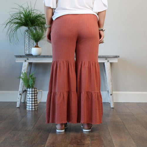Boho Bell Bottoms - Terracotta