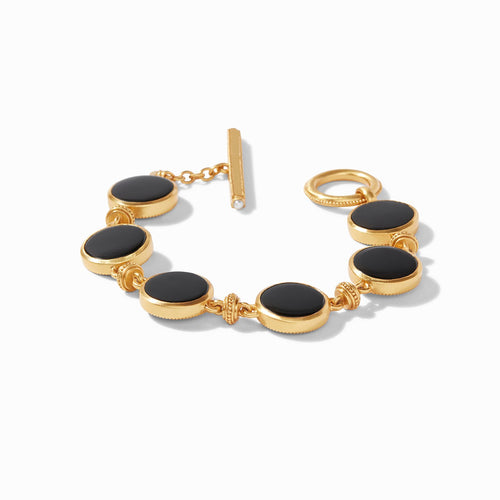 Julie Vos Coin Double Sided Bracelet - Obsidian Black