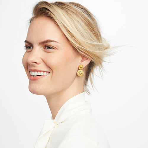 Julie Vos Coin Midi Earring