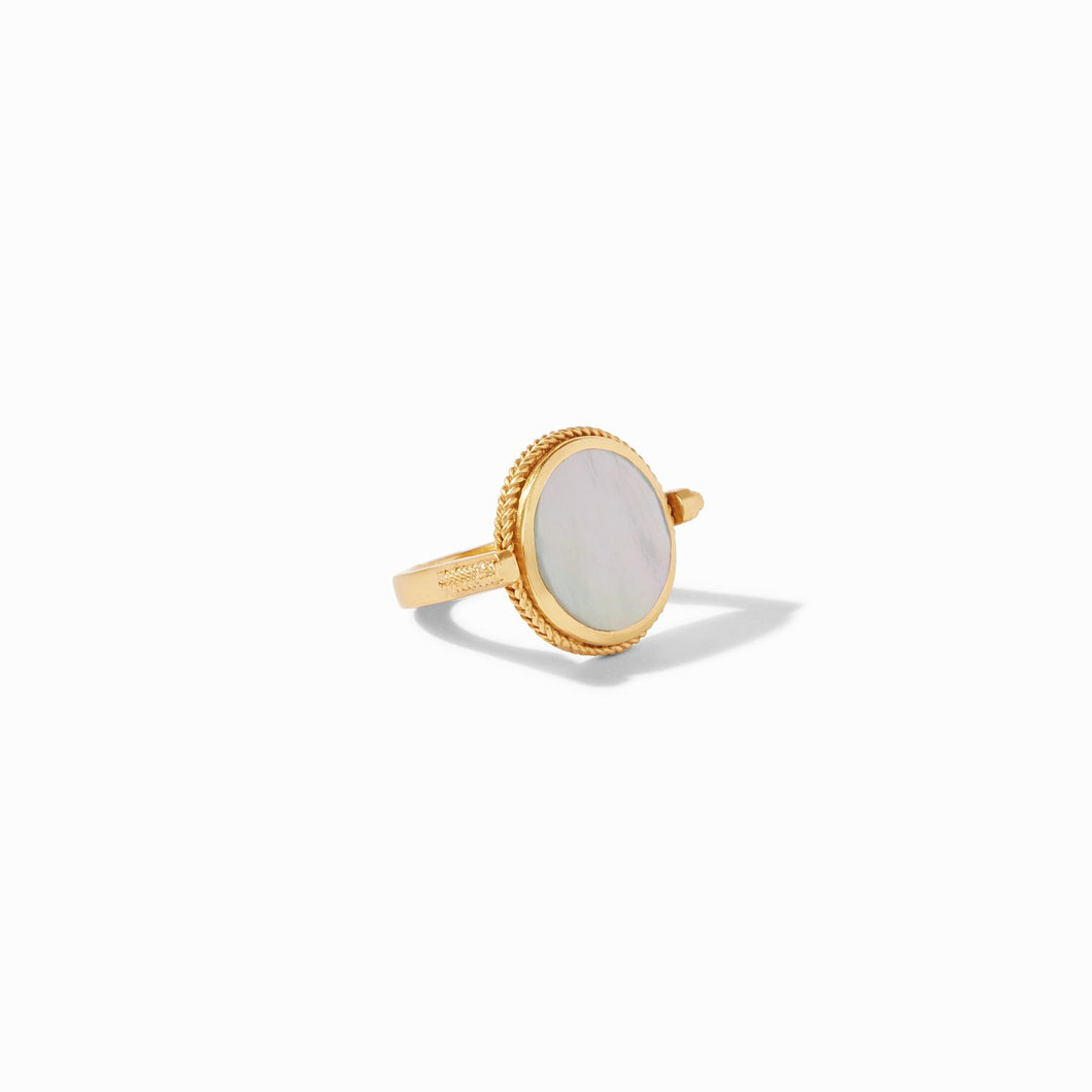 Julie Vos Coin Revolving Ring - Mother of Pearl