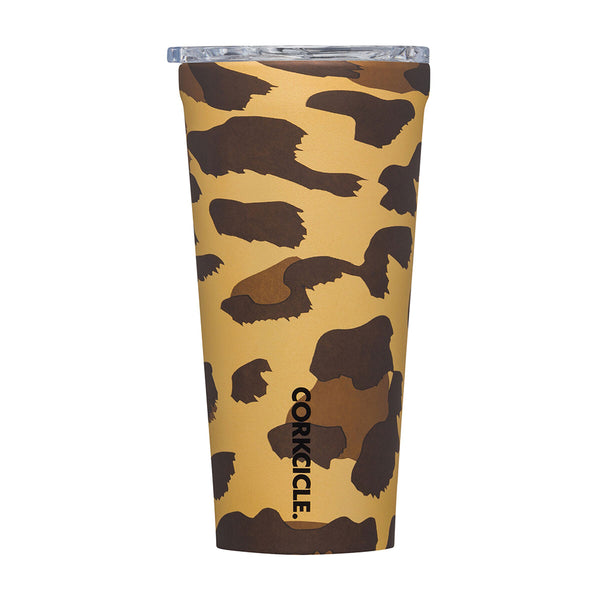 Corkcicle Luxe Leopard 16oz Insulated Tumbler
