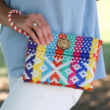 Oaxacan Market Clutch - White Check
