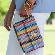 Oaxacan Market Clutch - Multi Stripes