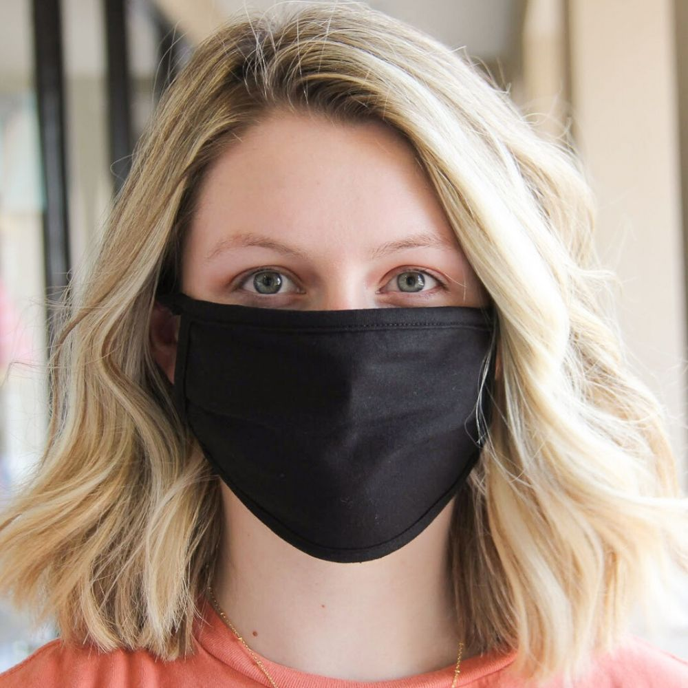 Face Mask - Solid Black