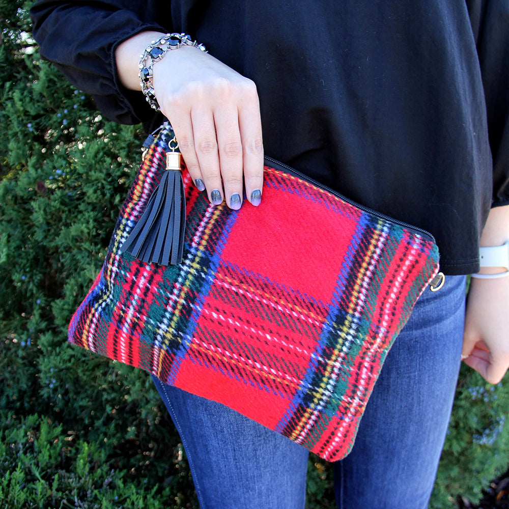 Festive Wristlet Crossbody Red
