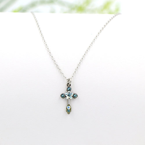 Firefly Petite Cross Necklace Ice