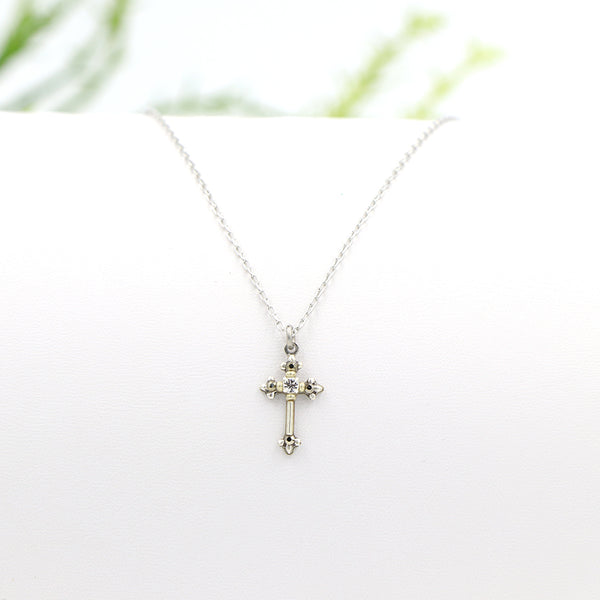 Firefly Petite Cross Necklace Silver