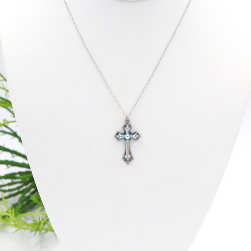 Firefly Teresa Cross Necklace Ice