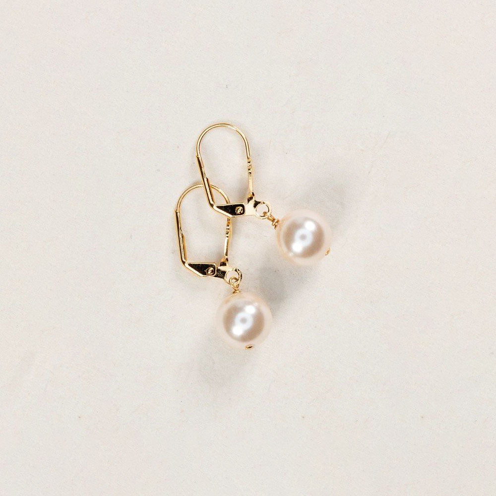Holly Yashi Classic Pearl Earrings White Gold
